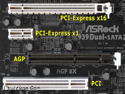 اسلات pci و pci express