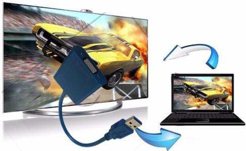راهنمای استفاده از مبدل USB به VGA