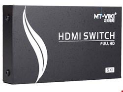 سوییچ 5 به 1 HDMI با قابلیت کنترل از راه دور و انتقال تصاویر 3 بعدی