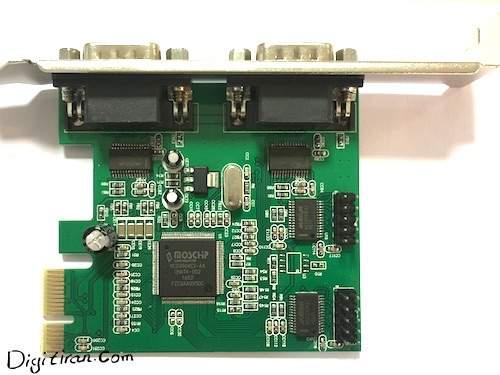 کارت Express PCI سریال موس چیپ ۴ پورت