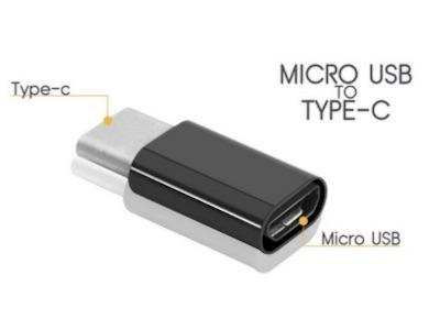 مبدل بسیار کوچک micro usb به USB TYPE-C جهت شارژ و انتقال اطلاعات می تواند به سر کابل های اندرویدی وصل شود و  سر دیگر به گوشی تایپ سی وصل کرد.