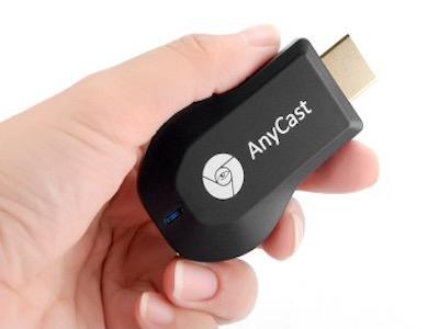 مبدل hdmi wifi انداختن تصویر موبایل بدون سیم روی تلوزیون با کمک anycast